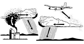 Cloud seeding. Photo: Public Domain/DooFi