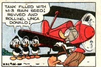 Donald Duck rain comic. Photo: Walt Disney