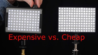 Expensive vs. cheap LED arrays. Photo: Dave Dugdale (CC BY-SA)
